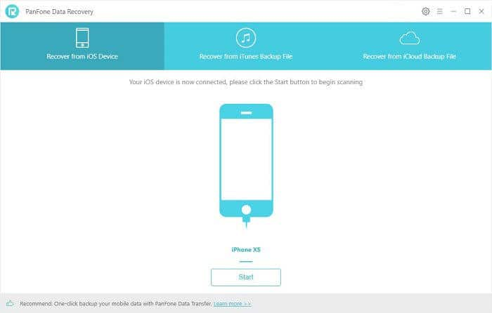 PanFone iOS Data Recovery